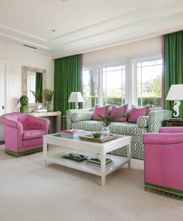 Anne Hepfer's Green Grass and Pink Biscayne Bay design_casartblog