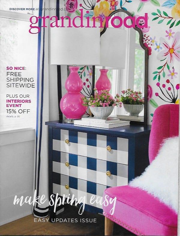 GrandinRoad Pink color cover casartblog