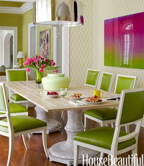 Chartreuse green with pink accents_casartblog