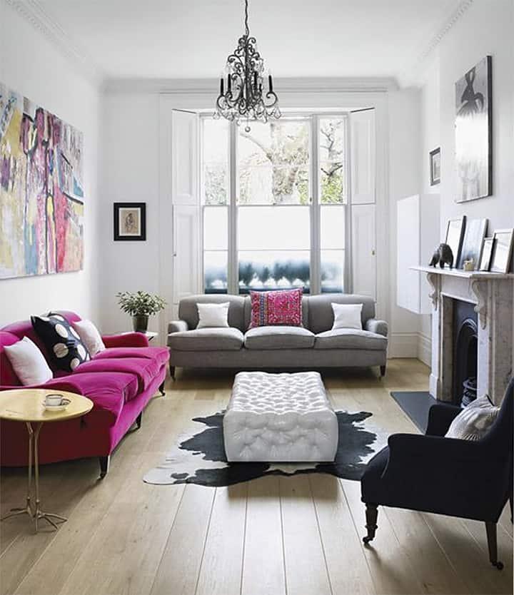 Modern pink + black_casartblog