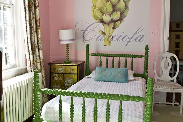 Casart coverings Artichoke temporary wallpaper bedroom_casartblog