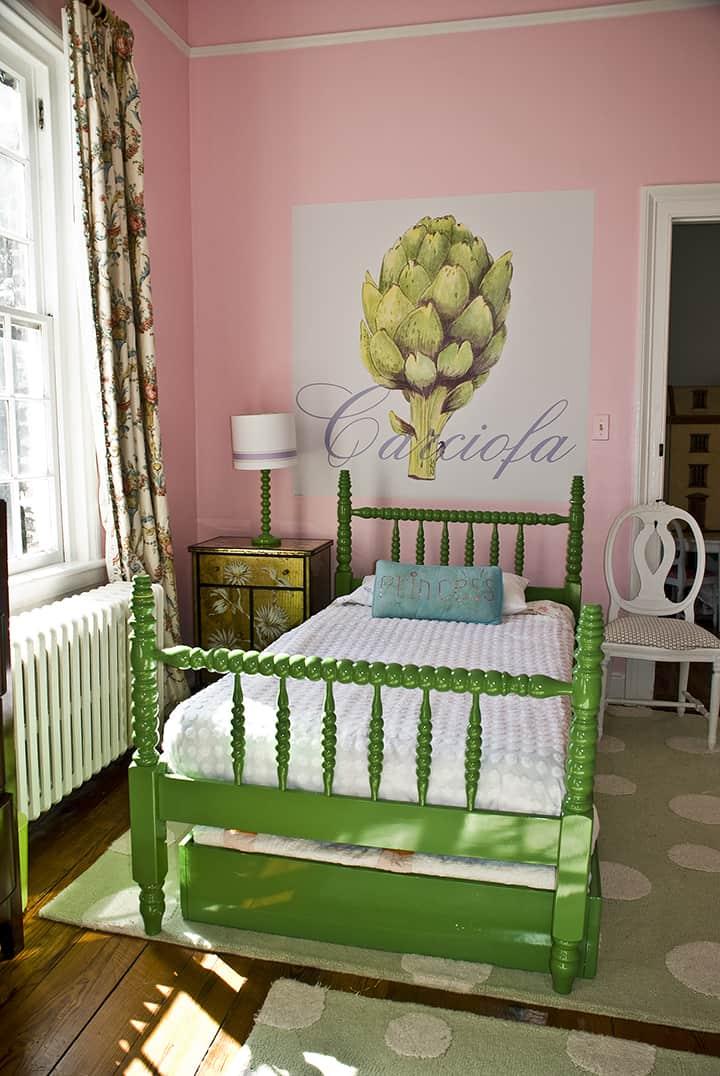 Casart coverings Artichoke temporary wallpaper bedroom_casartblog