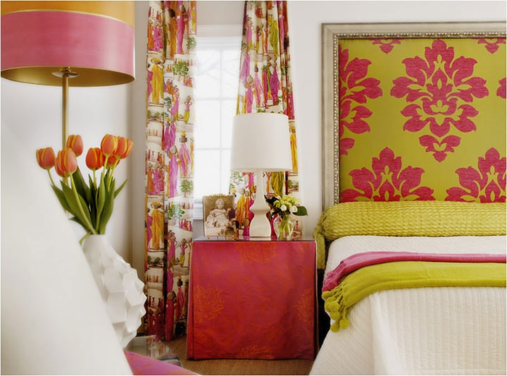 Orange and Coral shades of pink with green_casartblog