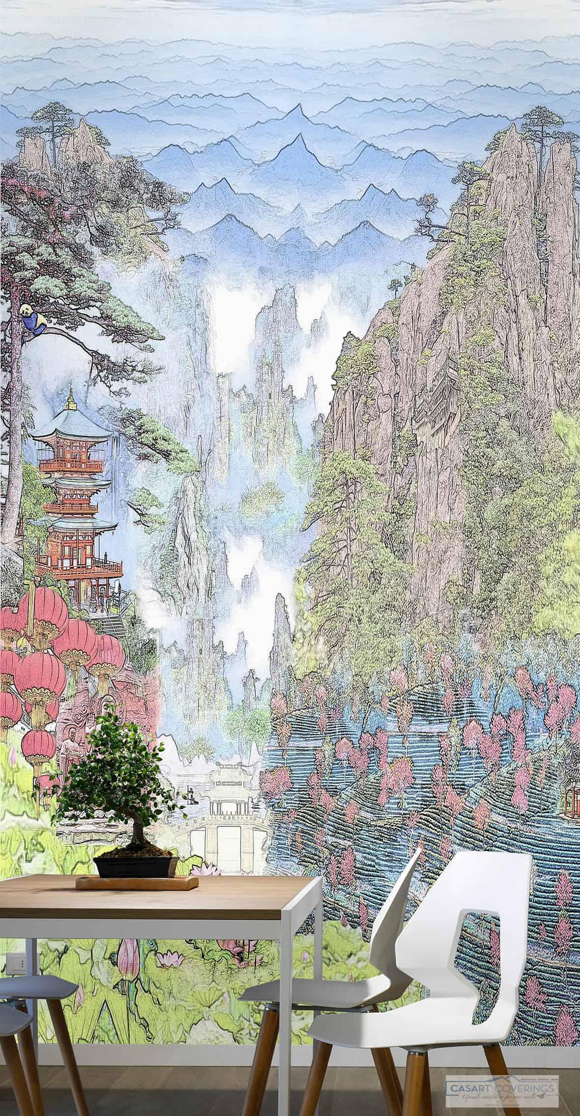 Casart Coverings Full Colorized China Mural temporary wallpaper_casartblog