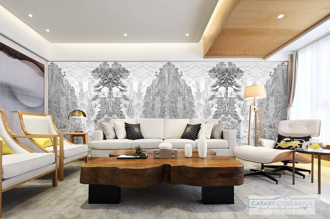 Casart Coverings Custom China print mirror installation removable wallpaper_casartblog