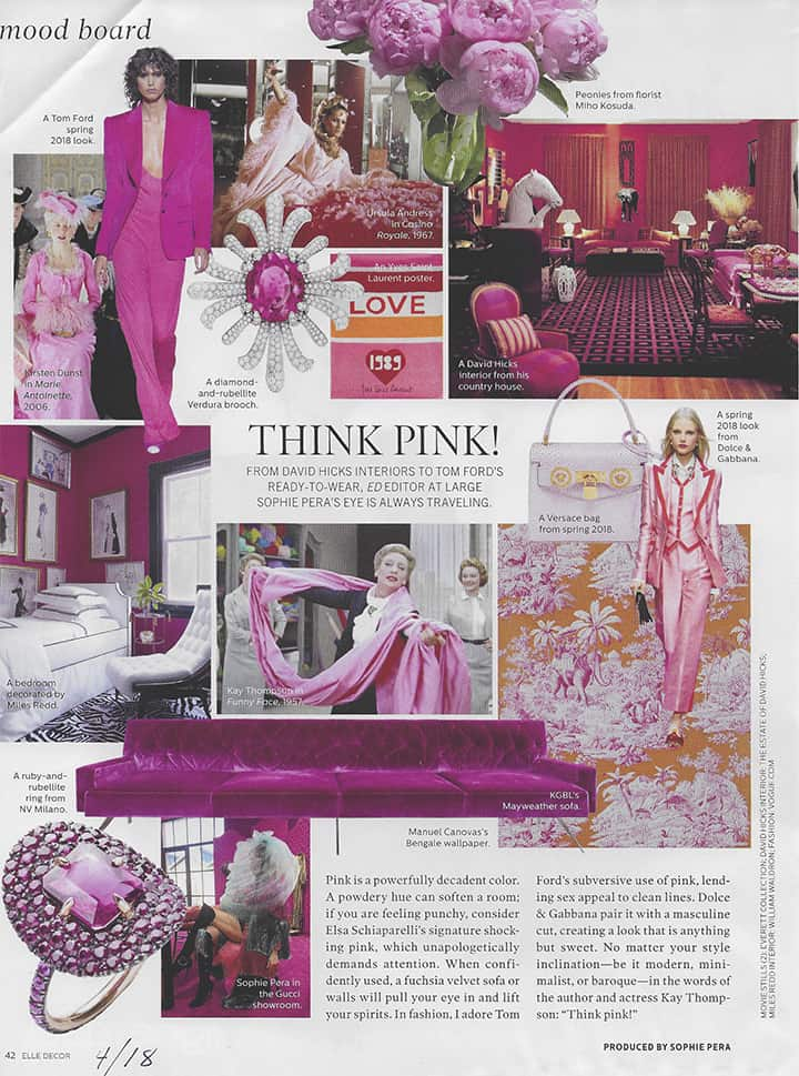 Elle Decor Think Pink Flowers_casartblog
