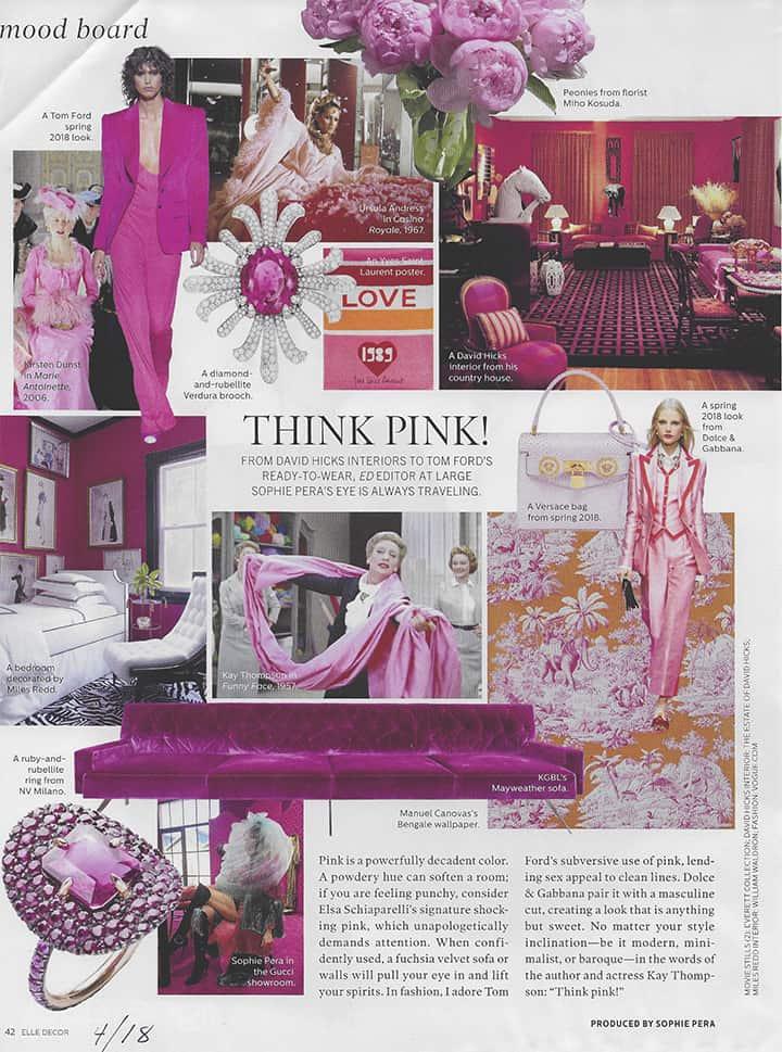 Elle Decor Think Pink Flowers_casartblog