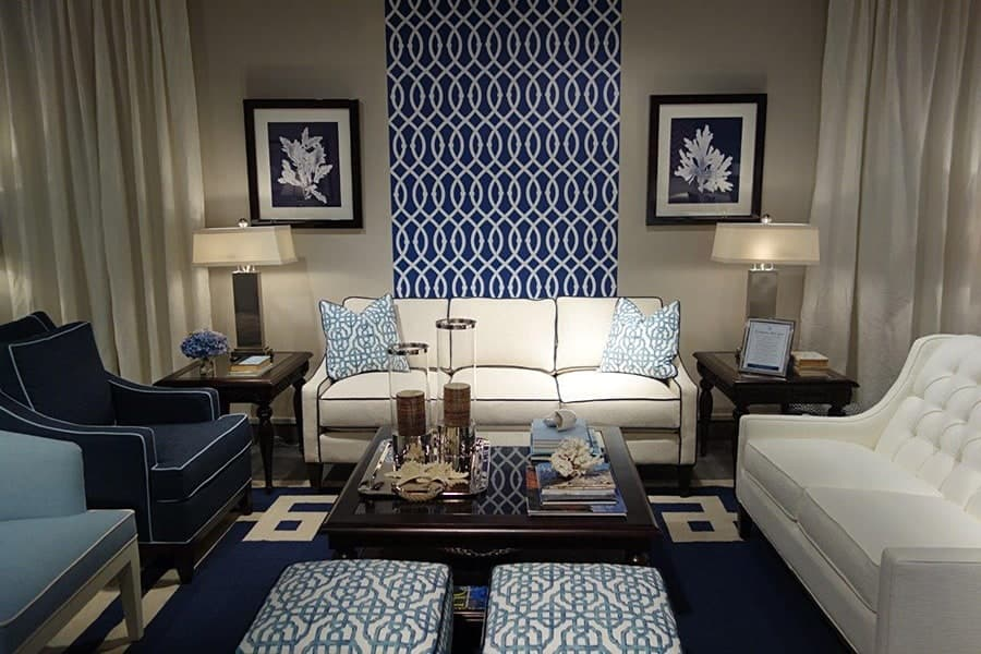 Libby Langdon Lively Lattice blue-white removable wallpaper for Casart Coverings_casartblog