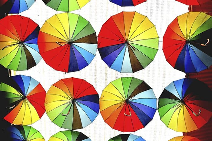 Colorwheel Umbrellas Photo by Malte Bickel on casartblog