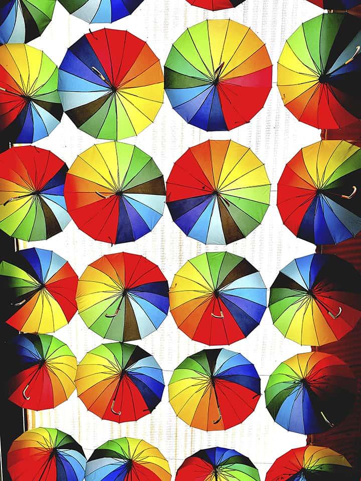Colorwheel Umbrellas Photo by Malte Bickel on casartblog