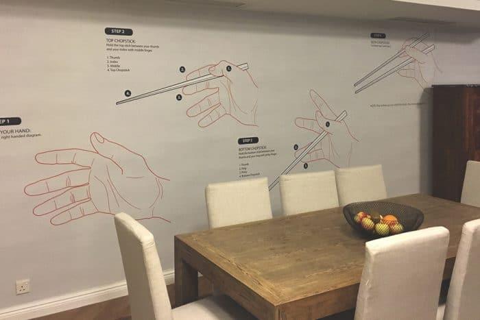 Hong Kong Chopsticks co-created Casart temporary wall mural_casartblog