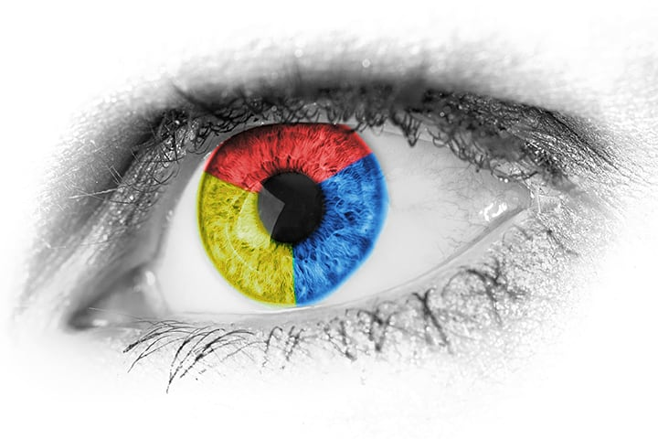Abstract primary color eye photo by Public Domain Pictures on casartblog