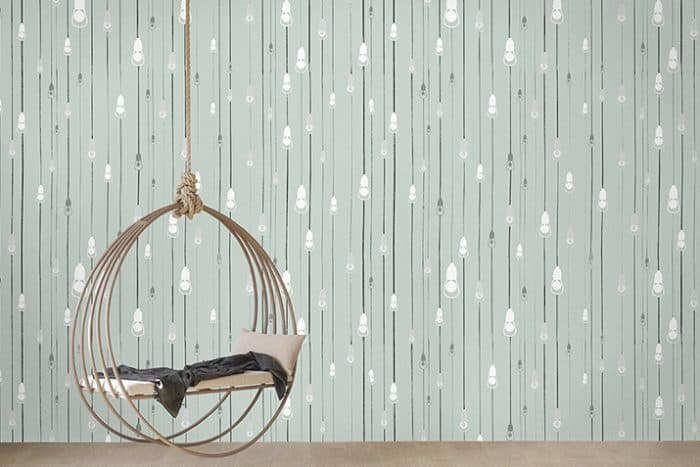 Casart Coverings Light Rain Design removable wallpaper in Afternoon Shower colorway_casartblog