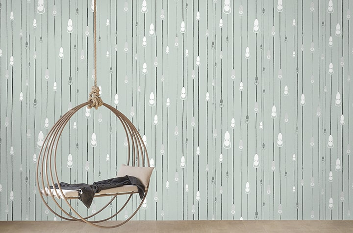 Casart Coverings New Light Rain Design removable wallpaper in Afternoon Shower colorway_casartblog