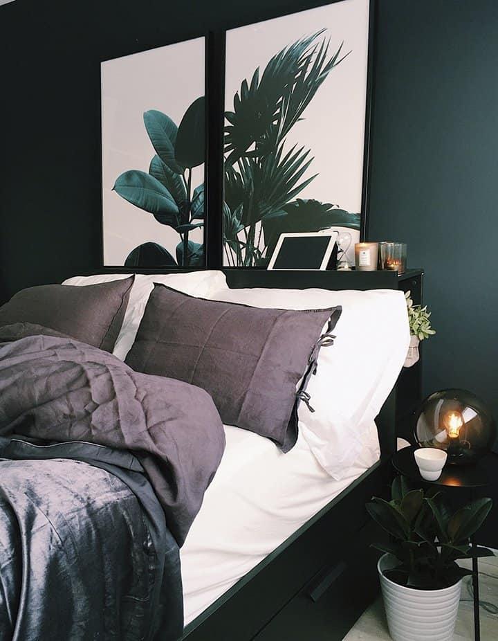 Dark Green bedroom_casartblog