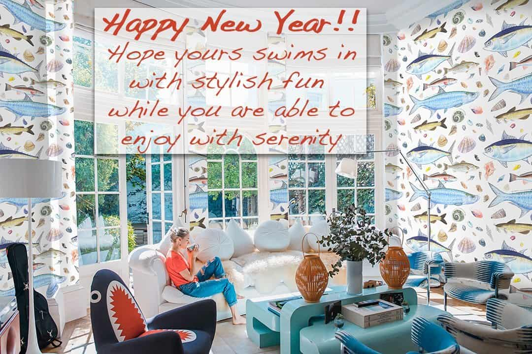 Casart Coverings Happy New Years Residential Shellfish removable wallpaper_casartblog