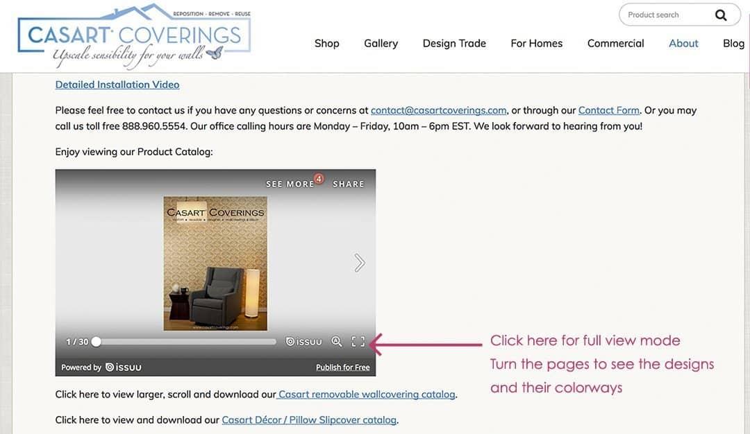 Casart Coverings custom wallpaper Catalog_casartblog
