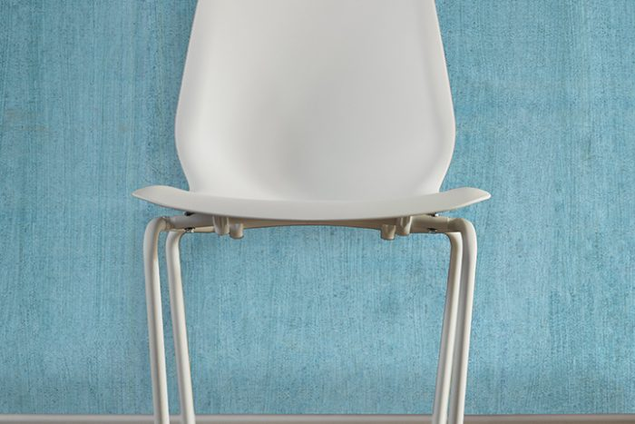 Casart Coverings Teal Faux Bois removable wallpaper_chair_casartblog