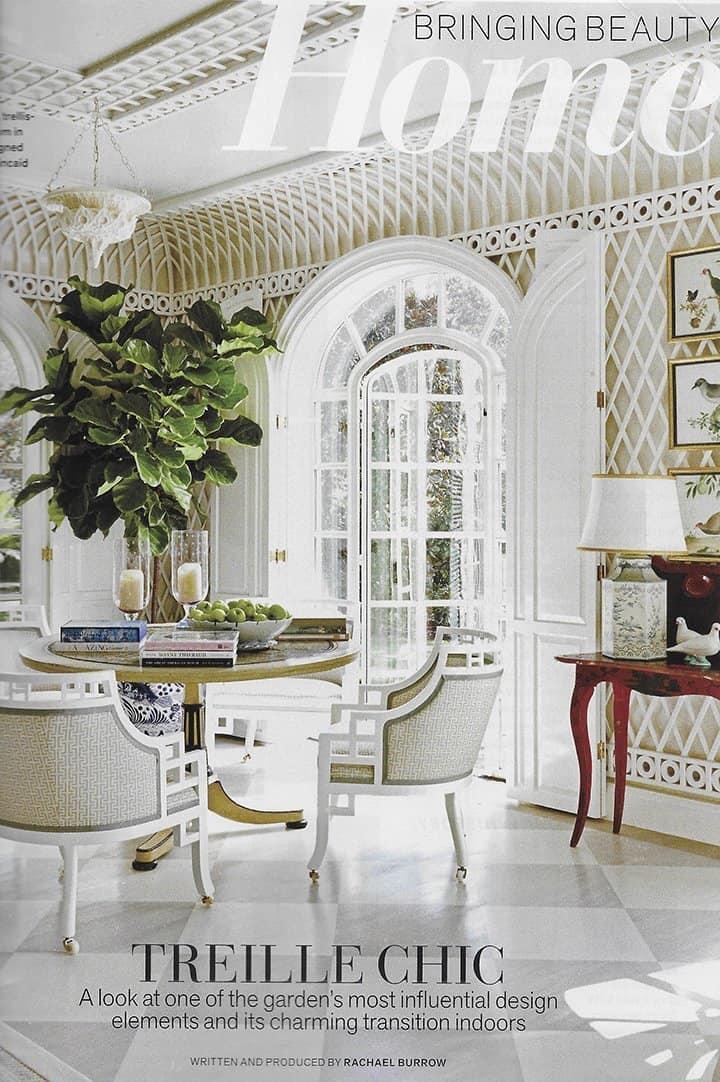 Veranda highlights lattice wall interior design by Cathy Kincaid_casartblog