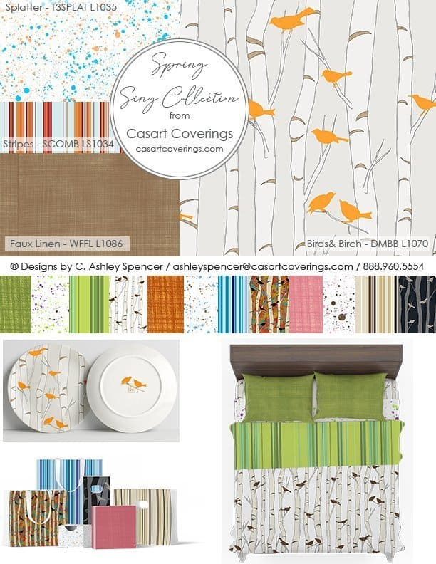 Spring Sing Collection Casart Designs for furniture_home goods_room decor