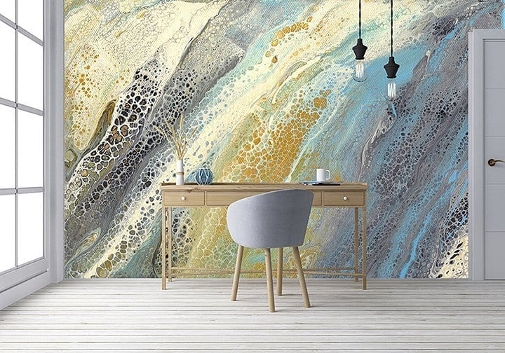 Casart Coverings Wave1 Mural removable wallpaper in Virtual Office Space