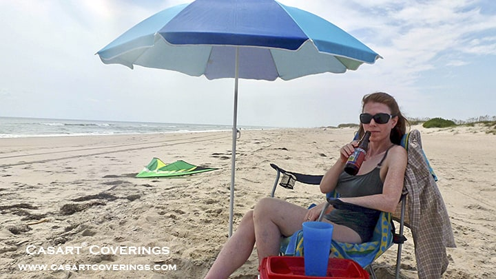 Enjoying Ocracoke beach during better days before Dorian_casartblog