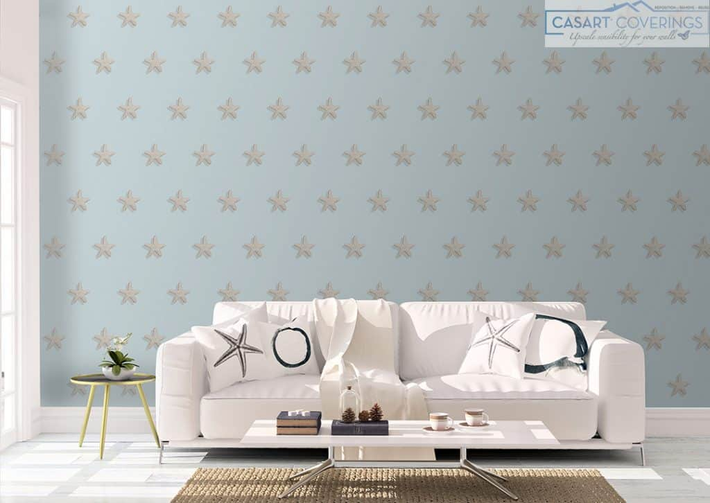 Casart Starfish Pattern for Summer American Style removable wallpaper