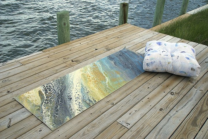 Casart Yoga Mat and Floor Cusion_wave and shell designs_casartblog