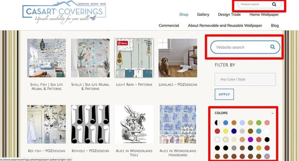 How to Search Casart Coverings website_casartblog