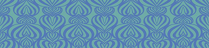 Casart removable wallpaper design POZdesigns Lovelace turquoise and green