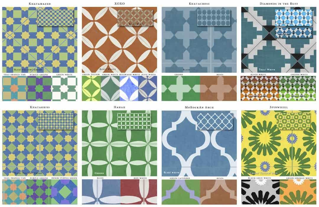 MoRockAnSoul faux tile wallpaper for Casart Coverings_casartblog