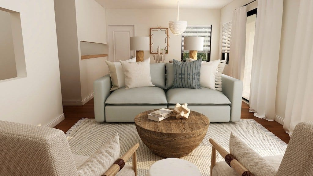 eye-catching living room with pillows_casartblog