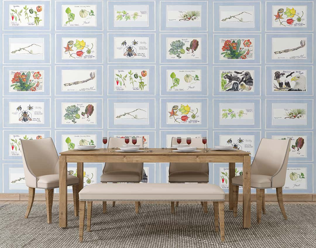 Casart Coverings Nature Noticed Gallery Wall in dining room