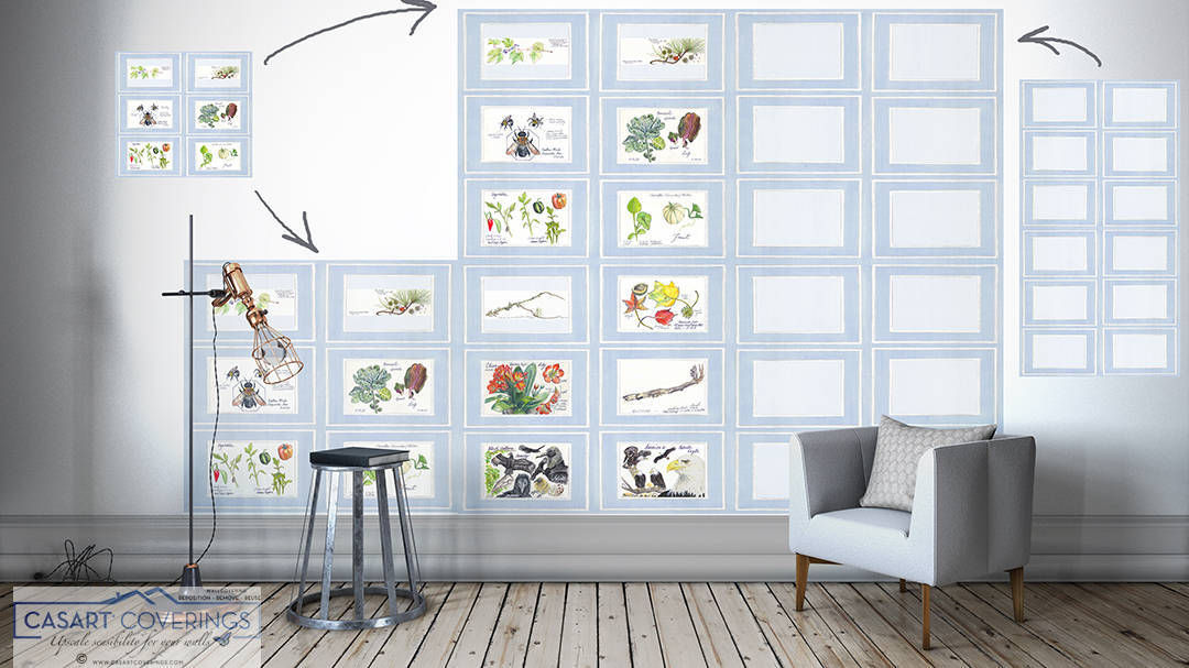 Casart Covering Nature Noticed reusable wallpaper panels can be installed in any configuration