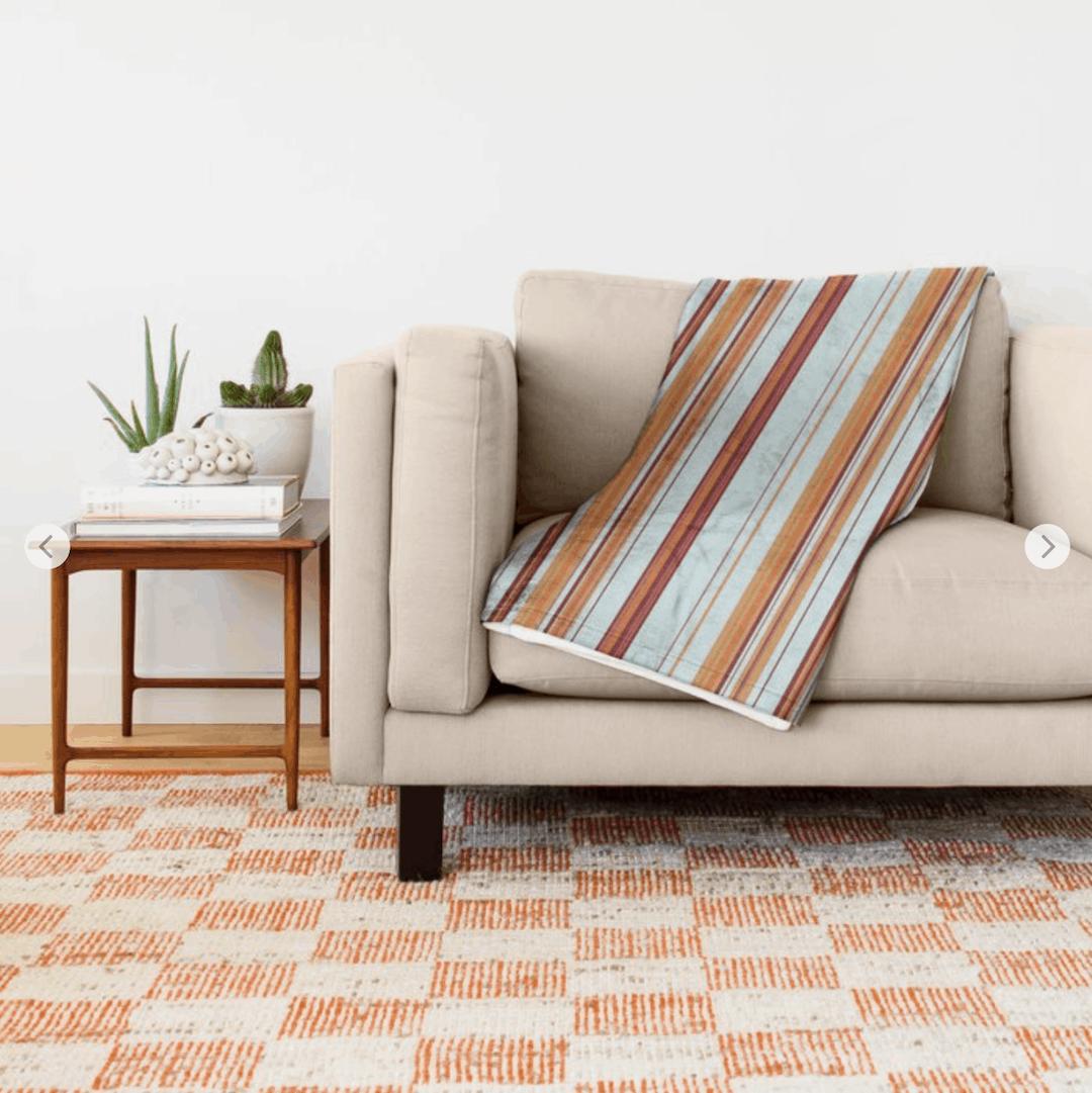 Casart Throw Blanket_Combined Stripe Clear Sailing_casartblog