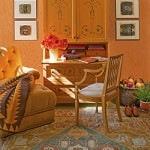 Casar MDD Mary Douglas Drysdale Signature Color Oushak Orange Casart Colorwash Room View 3