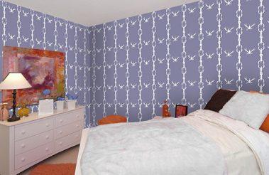 Casart_Gulf Coast Crawfish-Cotillion-Purple_Bedroom view