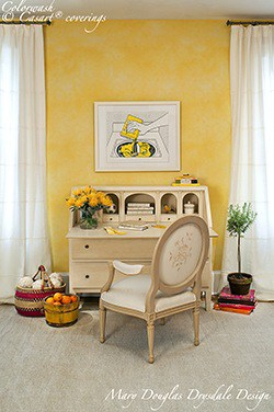 Casart Coverings Drysdale-yellow Colorwash removable wallpaper