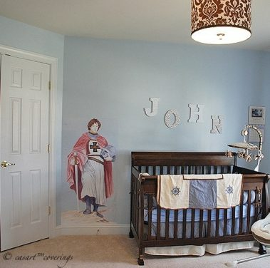 Casart Coverings t3_Knight growth chart nursery room view
