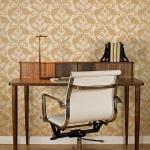 Casart Patterns Damask_Desk-Chair_full room view