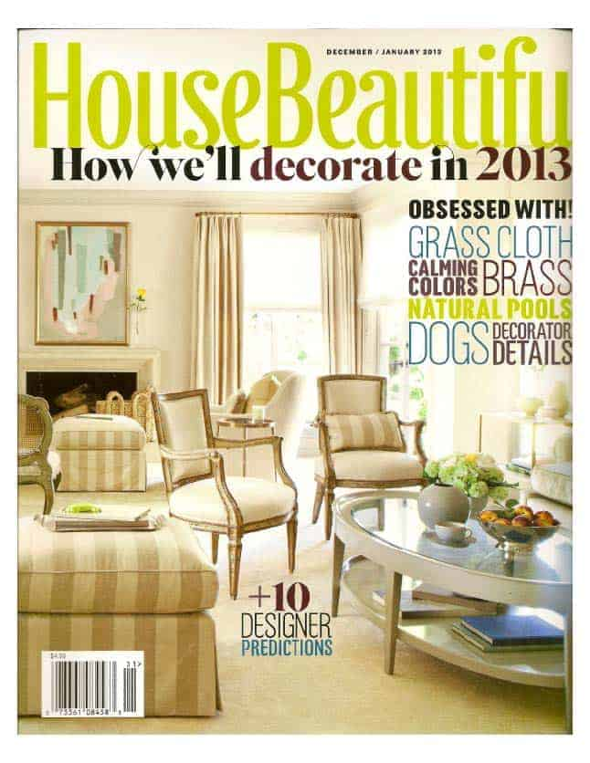 House Beautiful 2013 featuring Drysdale Signature Colors for Casart coverings press