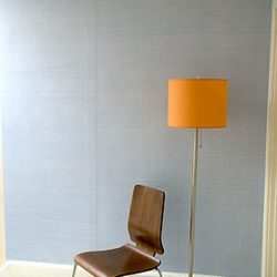 Casart Coverings Light Blue Faux Linen temporary wallpaper – Wallfinishes Room View