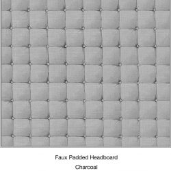 Casart Organics_Faux Padded Headboard Charcoal - Detail