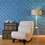 Casart coverings Quill - Persian blue room view