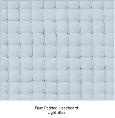 Casart Organics Faux Padded Headboard - Light Blue