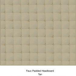 Casart Organics_Faux Padded Headboard - Tan