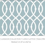 Casart coverings Aqua Mist Lively Lattice_Libby Langdon Collection_3x