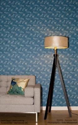 casart Patterns Quill_Indigo room view