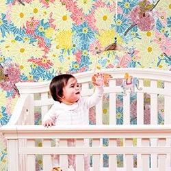 Casart Flower Power_Botanicals_ Nursery Bedroom View_4
