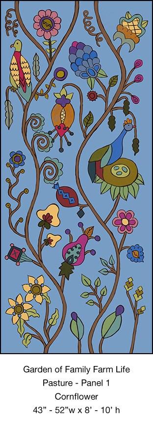 Casart_Pasture Mural 1_Cornflower_Kristin Nicholas_9x